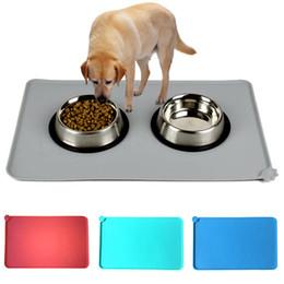 Dog Feeding 1pcs Pet Dog Cat Bowl Mat Puppy Cleaning Feeding Dish Bowl Table Wipe Easy Cleaning Waterproof Non-slip Eat Mats