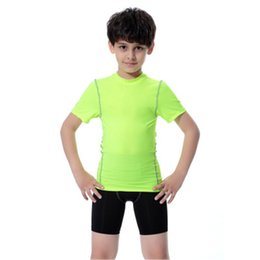 new athletic jersey 2020 - 2019 New Children Sportswear Breathable Sport T shirt Solid Boys Girl Running Jerseys Tops Quick Dry Athletic Kids Baske