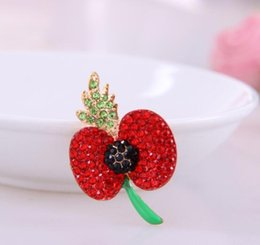 brooch hair Australia - Popular drip poppies high-end brooch manufacturers hair jewelry