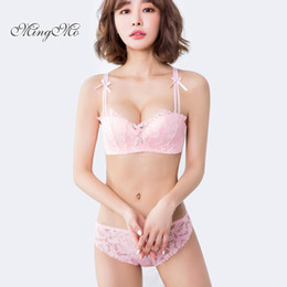 0309fd8810f wholesale 2018 Hot Luxury Lingerie Bra Set Embroidered Lace Push Up Thin  Half Cup Comfortable Cotton Sexy Lady Bra And Panty Sets