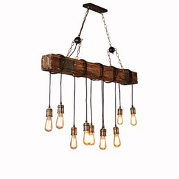 $enCountryForm.capitalKeyWord UK - Industrial wood lighting Pendant Lights retro boat wooden Pendant Lamp L118cm restaurant bar cafe clothing Home lighing G215