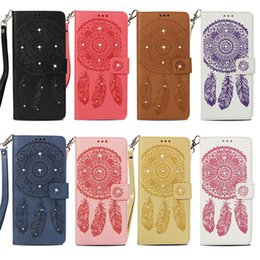 Lg diamond waLLet online shopping - Diamond Campanula Design luxury Leather Wallet Cases for iPhone X XR XS Max Plus PU Flip Cover Case Card Pocket