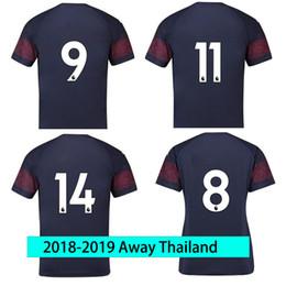 946bd11dc soccer jersey Thailand Ar senal Away 2018 2019 Men JERSEY 18 19 Thai football  kit Top soccer shirt Dark Blue Sport Shirts