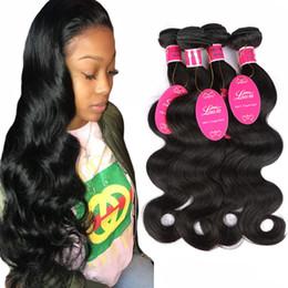 cheap loose body wave hair 2019 - Grade 8A Peruvian 100% Human Hair Body Wave Hair 3 Bundles Or 4 Bundles & Brazilian Malaysian Indian Unprocessed Virgin