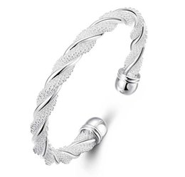 $enCountryForm.capitalKeyWord UK - Antique Pure 925 Sterling Silver Open Bangle Bracelet Girl