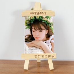 Wedding Gifts Photo Frames NZ - 5 6 7 8 10 Inch Photo Frame Home Decor Retro Wooden Wedding Couple Recommendation Pictures Alume Gift Ornament W $