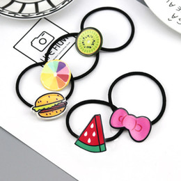 Blue Hair Ponytail Australia - 1PCS Novelty Hot Sale Girls Cartoon character animal Character Hair Accessories Fashion Kids Candy Rubber Bands Headwear