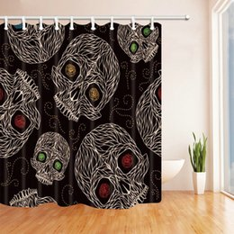$enCountryForm.capitalKeyWord Canada - Skull Creative Pattern 69 X 70 Inch Polyester Fabric Shower Curtain Waterproof Mildew Bathroom Supplies Blackout Hanging Curtains