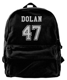 twins girls Canada - Dolan Twins Canvas Shoulder Backpack Unique Travel Backpack For Men & Women Teens College Travel Daypack Black