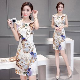 $enCountryForm.capitalKeyWord NZ - Chinese Style Elegant Flower Dress Plus Size Summer Slim Party Ladies Designer Dresses Runway 2019 High Quality Lolita