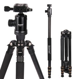 heavy duty tripods UK - wholesale Z688 Professional Photographic Travel Compact Aluminum Heavy Duty Tripod Monopod&Ball Head for Digital DSLR Camera