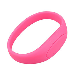 $enCountryForm.capitalKeyWord NZ - Pink Silicon Wristband Design 8GB 16GB 32GB 64GB USB 2.0 Memory Stick USB Flash Drives Thumb Pen Drives for PC Laptop Tablet Thumb Storage