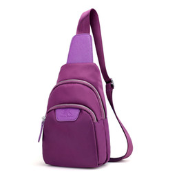 Chinese  Women Waterproof Nylon Chest Bags Multi Function Small Shoulder Bag Fanny Letter Cell Phone Sling Bag Unisex Chest Pack Flap manufacturers