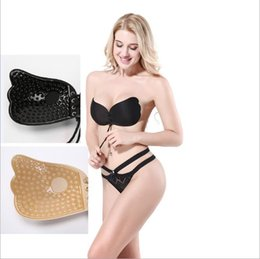 f1e9730295 Women invisible Bra Nubra Butterfly Wing Silicone Bra Strapless Backless  Self Adhesive Silicone Invisible Push-up Bras Underwear CNY358