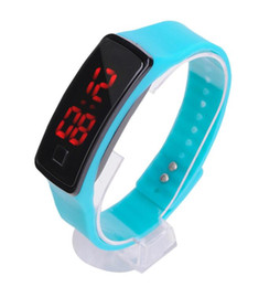 RubbeR digital watches online shopping - New Fashion Sport LED Watches Candy Jelly men women Silicone Rubber Touch Screen Digital Watches Bracelet Wrist watch good