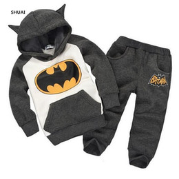$enCountryForm.capitalKeyWord Australia - New Girls Boys Clothing Sets Kids Character Cotton Long Sleeve Shirt + Pants Suit Children Clothing In Stock