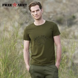 $enCountryForm.capitalKeyWord NZ - Free Army Summer T Shirt Men Short Sleeve Cartoon Print Navy Green Tops Tees Plus Size Men Casual O Neck Green Design T Shirts