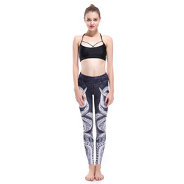 China Women Octopus Printed Super Elastic Beauty Sports Yoga Leggings Slim Sexy Athletic Fitness Pencil Pants Stretch Bodycon Hip Trousers cheap beauty women yoga pants suppliers