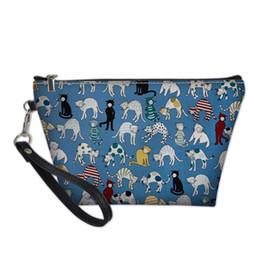 a6ce0528d1bd3 Makeup Bag Dog Pattern Pencil Box student Girl Boy School Supplies  stationery zipper gadgets Case Multifunctional purse Bag