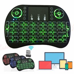 Discount wireless keyboards colors - Backlight I8 2.4GHz Wireless Keyboard Remotes Controler Three Colors Air Mouse Touchpad Handheld Backlit for Android TV
