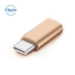 Charging Connector Types Australia - Ubeste Cell Phone Metal charging adapter Micro USB to usb 3.1 type C Connector Converter Adapter For MacBook samsung huawei