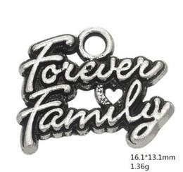 $enCountryForm.capitalKeyWord NZ - Tibetan Silver Plated Metal Letter Forever Family Word Charm Pendant lot Charms for DIY Bracelet