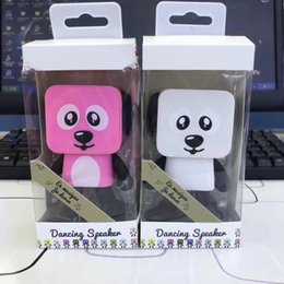 Dance Mobile NZ - Mini Bluetooth Speaker Smart Dancing Dog Speakers Portable Loudspeaker Creative Gift Toys 4 color In retail package 50pcs lot