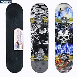Discount skateboard decks - WEING 520 Professional Heat Transfer pattern Wood Deck Skateboard Outdoor Indoor Long Board