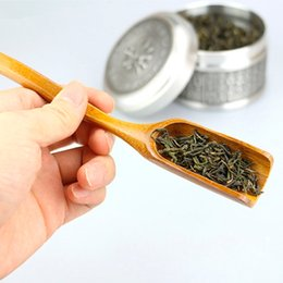 kung fu stick UK - Bamboo Tea Coffee Spoon Shovel Matcha Powder Teaspoon Scoop Chinese Kung Fu Tool Dec1