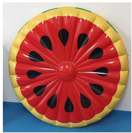 Discount water floating beds - Watermelon Inflatable Pool Float Swimming Mat Beach Bed Party Fun Water Floating Mat Island Buoy Toys Air Matress Circle