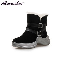 7710c49f0a95e Alionashoo Waterproof Snow Boots Women Winter Shoes 2018 Warm Plush for Cold  Winter Fashion Women's Boots Ladies Ankle