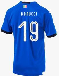 16c61b759 2018 world cup Italy Soccer Jersey  19 BONUCCI Italy home blue soccer shirt   1 BUFFON  3 CHIELLINI  16 DE ROSSI Football uniforms sales