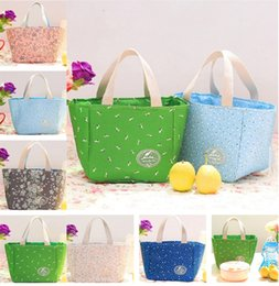 Bento tools online shopping - portable Picnic bento bag Handbags Thermal Insulated Bag Lunch hand Totes Storage Bags T5I014