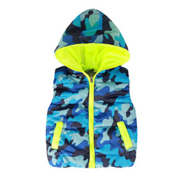 $enCountryForm.capitalKeyWord UK - Boys Vest Autumn New Fashion Camouflage Hooded Kids Waistcoat Thick Vest Jackets For Boys Clothes Baby Boy Warm Coat