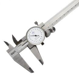 daniel121223 voie métrique Outil de mesure du cadran étrier 0-150mm / 0,02 mm anti-choc Vernier précision en acier inoxydable Caliper en Solde