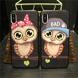 Cute Owl Phone Cases NZ - New Cute Owl TPU For iphone X 6 6S 7 8 Plus Phone Cases Relief Roses Soft Silicone High Quality Mobile Back Cover