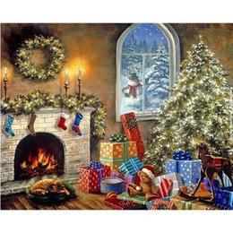 $enCountryForm.capitalKeyWord NZ - New Rushed Diy Mosaic Inlay 5d Painting Full Whole Square Drill Art Diamond Embroidery Cross Stitch Kits Christmas Gift Scenery