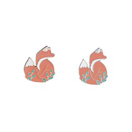 $enCountryForm.capitalKeyWord UK - Women Cute Animal Woodland Fox Soft Enamel Pin Lapel Clothes Bags Brooches Badges Jewelry Gift For Wedding Party