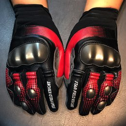 $enCountryForm.capitalKeyWord NZ - Full Finger Sheepskin Leather Motorcycle Gloves Breathable Biker Cycling Racing Gloves Touch Screen for Men Women