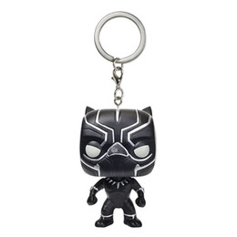Box Mini Figures UK - Big discout Funko Pocket POP Keychain - Black Panther Vinyl Figure Keyring with Box Toy Gift Good Quality Free Shipping