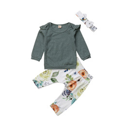 $enCountryForm.capitalKeyWord Australia - 0-24M Newborn Baby Girls Cotton Clothes Set Cute Baby Girls Long Sleeve Tops T-shirt Floral Printed Pants 3Pcs Autumn Outfits