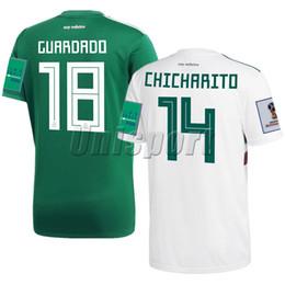 ee3da68d75d9b Chicharito méxico camisa online-Copa del Mundo 2018 México Camiseta de  Futbol Visitante Chicharito Carlos