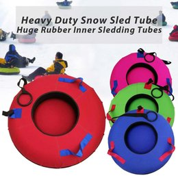 Heavy Duty Snow Sled Tubes Outdoor-Sport Skis aufblasbares Ski Board Doppeltes Design