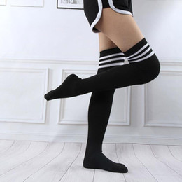 9e9155739a702 Adult Women Over Knee Long Stocking Tight Hight Cotton Anime Cosplay  Striped Stockings Autumn Student Girl Sexy Lingerie