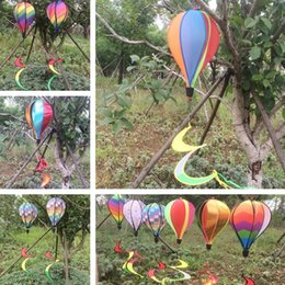 $enCountryForm.capitalKeyWord NZ - New Windsock Hot Air Balloon 6 Styles Wind Spinner with Rainbow Stripe Garden Yard Outdoor Garden Decorations I414