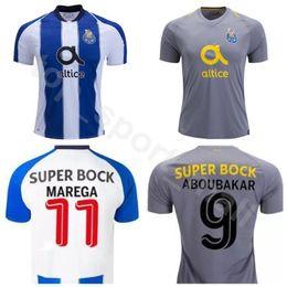 4c5b0675b73 FC Porto Soccer 13 Alex Telles Jersey Men 11 Moussa Marega 29 Tiquinho Soares  Football Shirt Kit Custom Name Number Team Blue Grey