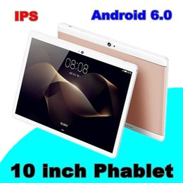 "Discount tablets 2gb - 2018 10"" inch MTK6582 Qual Core 1.5Ghz Android 6.0 3G Phone Call tablet pc GPS bluetooth Wifi Dual Camera 2GB 32GB"