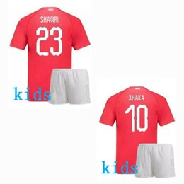 09f026448 Switzerland Kids soccer jersey 2018 2019 football shirt 18 19 EMBOLO XHAKA  SHAQIRI boys jerseys