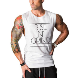bodybuilding muscle shirts NZ - Gyms tank tops Bodybuilding Clothing Fitness Men Cotton golds Vest No Pain No Gain Sleeveless Shirts Muscle tanktop singlets