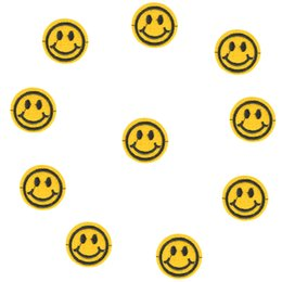 $enCountryForm.capitalKeyWord Australia - Diy Smiling face patches for clothing iron embroidered patch applique iron on patches sewing accessories badge on clothes bags
